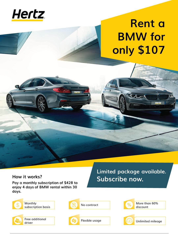 Hertz Monthly Rental >> Bmw Car Rental Hertz Sg Luxury Car Rental Singapore